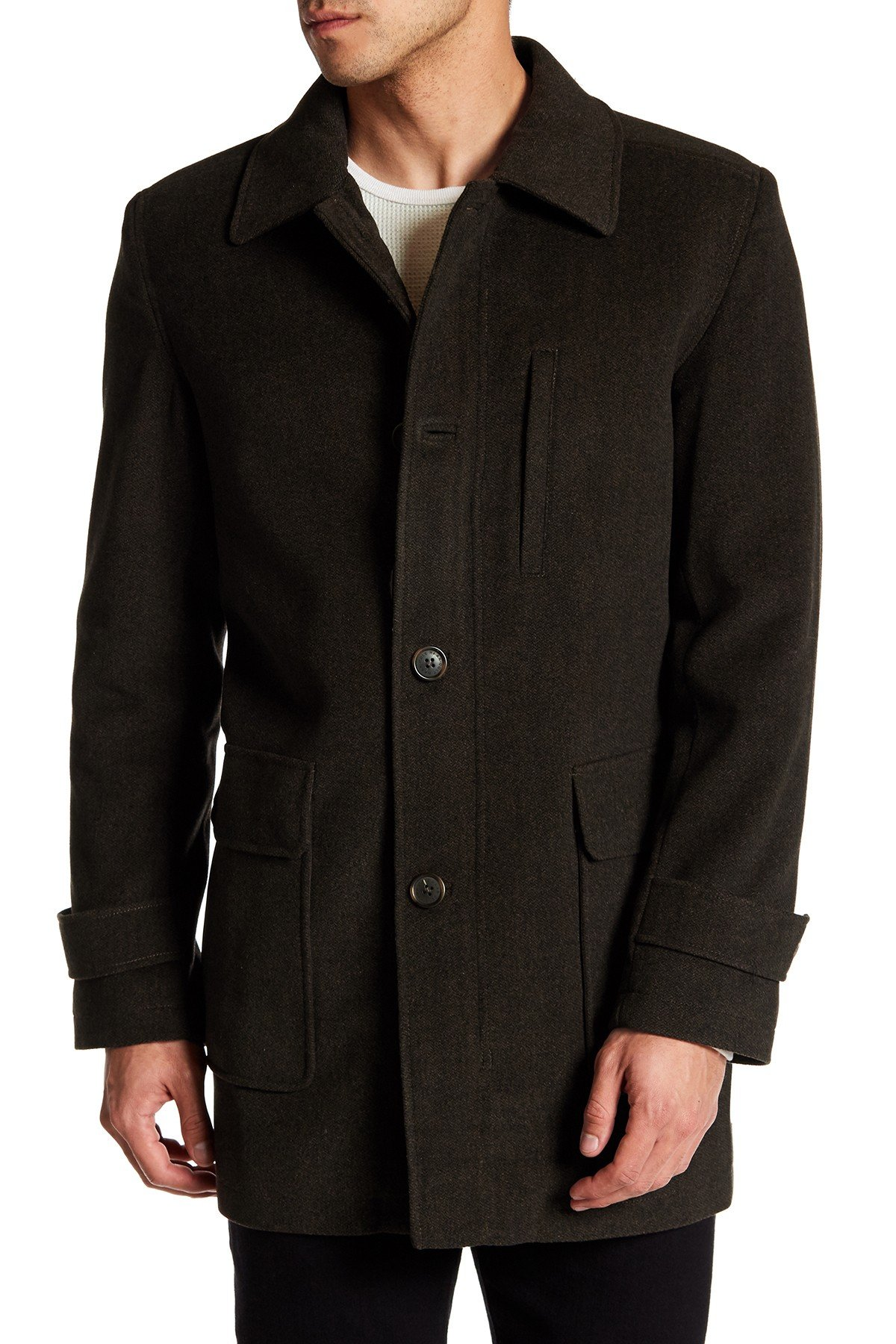 coats for men cole haan - topper coat ZCSXGOB