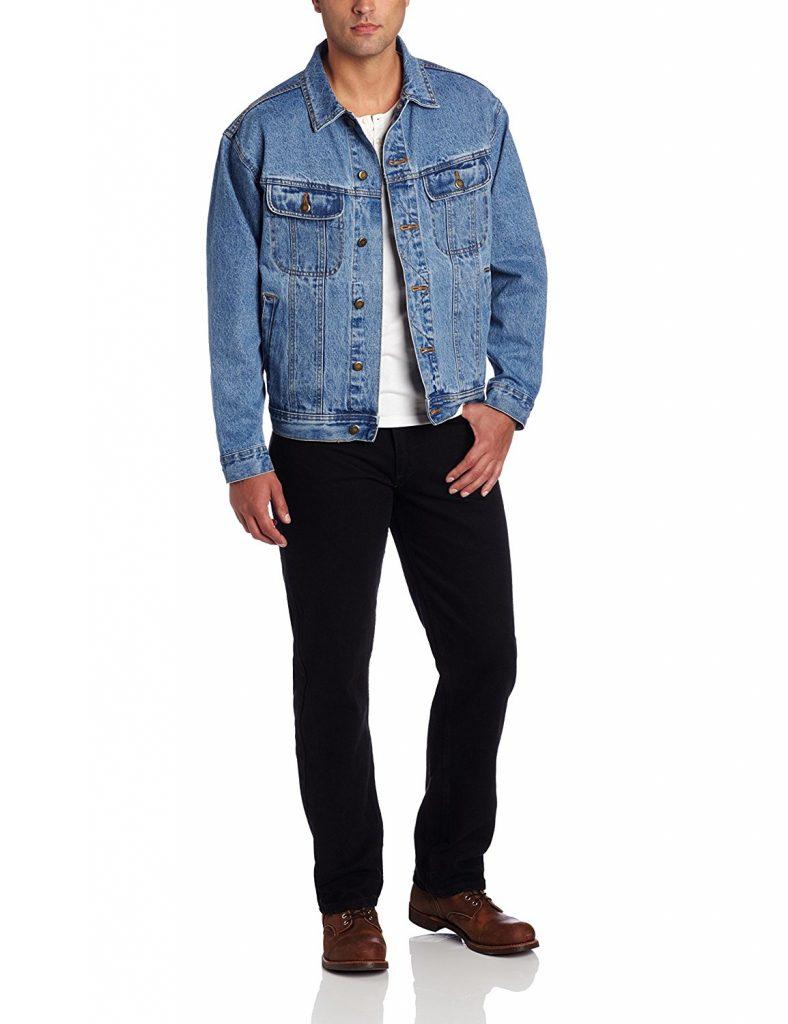 coats for men menu0027s rugged wear unlined denim jacket MXLUJRP
