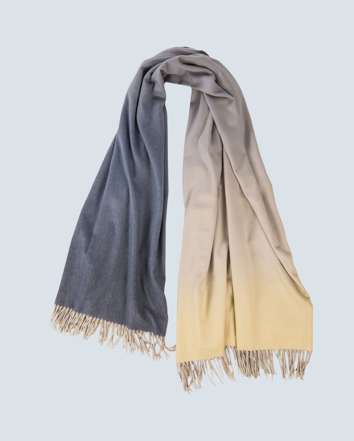colour graded 100% cashmere scarf moonlight NRCWHQA