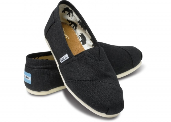 comfy shoes 1. black and canvas toms SFGXWJN