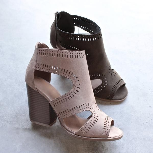 comfy shoes talk around town perforated booties - more colors. pretty heelscomfy shoesbeautiful  ... RFWBGCJ