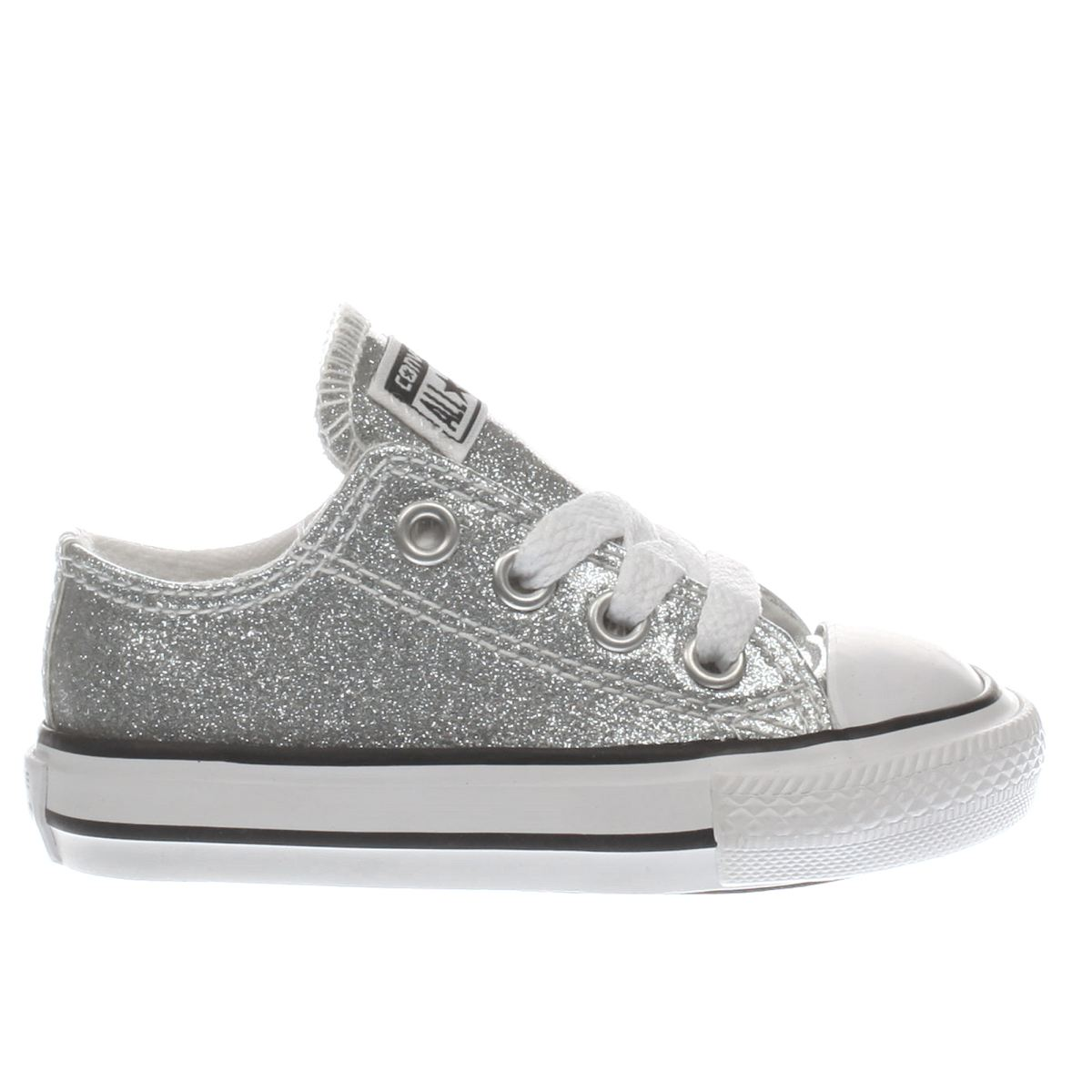 converse trainers converse silver all star ox glitter girls toddler YULWZXV