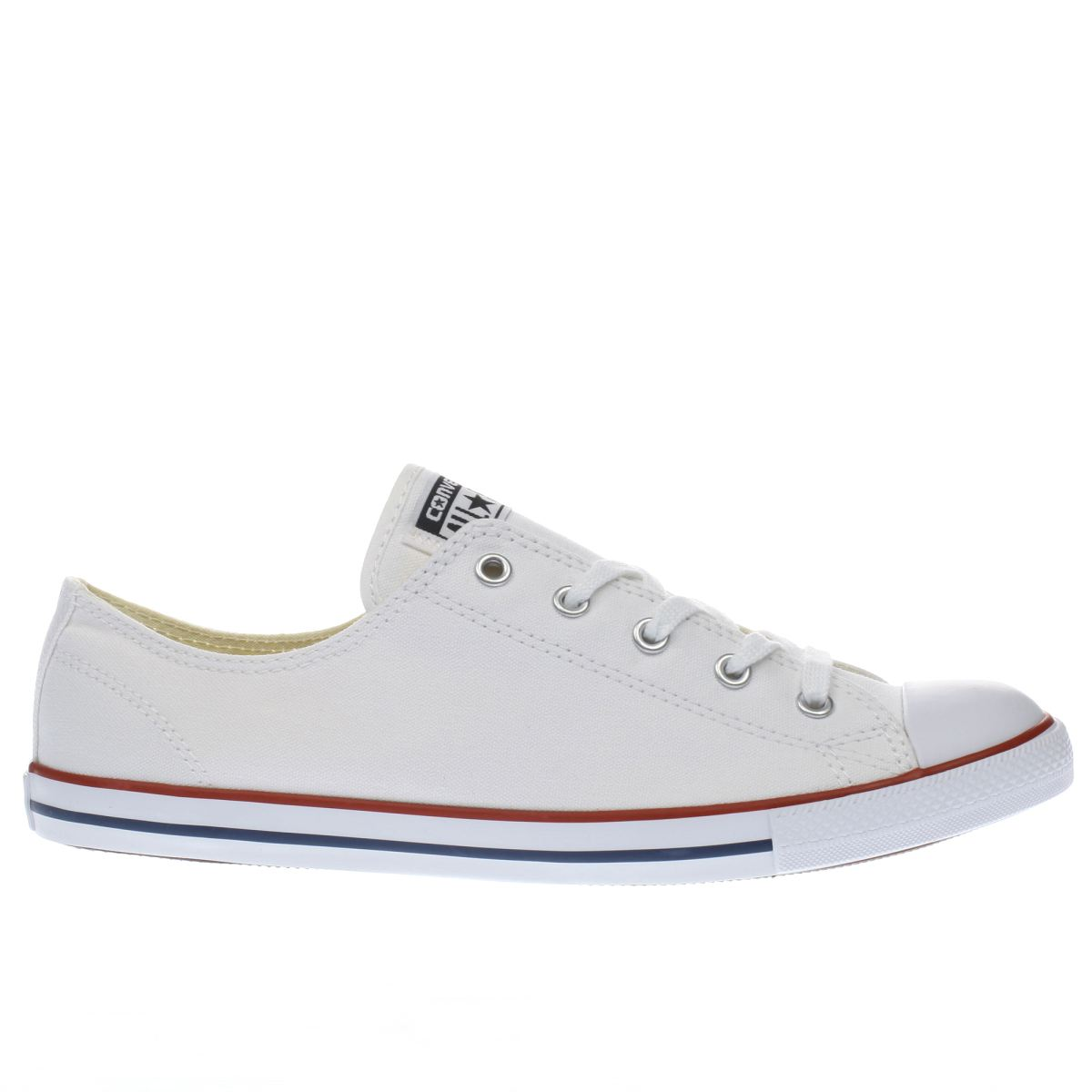 converse trainers converse white all star dainty canvas womens trainers VUYECBZ