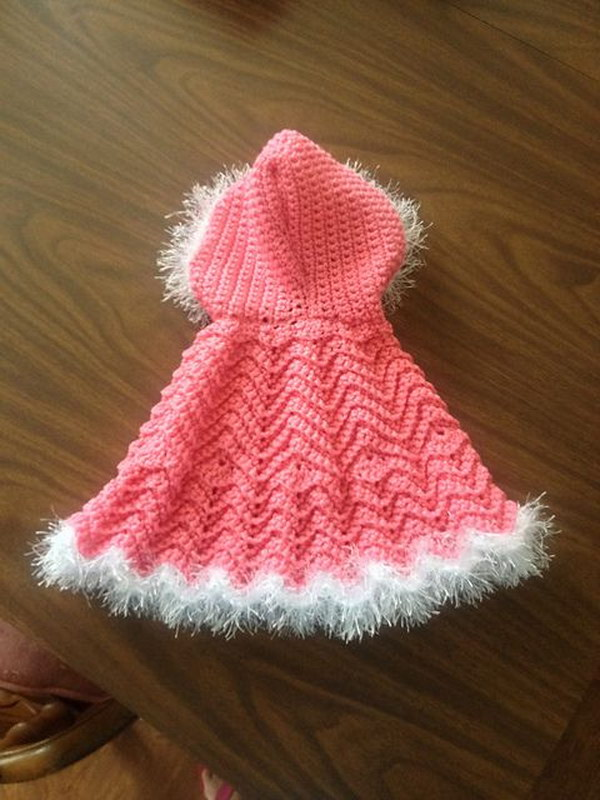 cool crochet patterns crochet baby ripple cape HOEDZLA