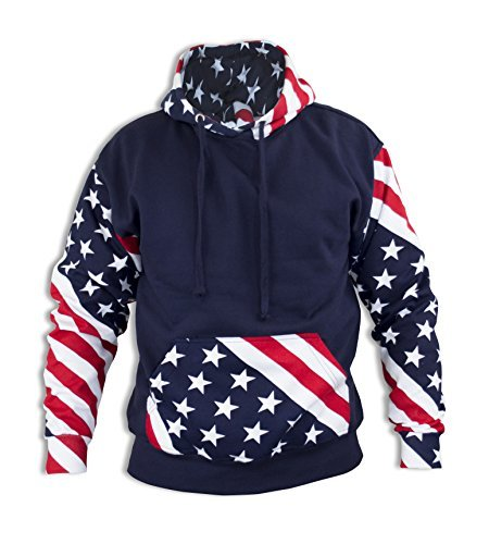 cool hoodies unisex usa flag inspired hoodie pullover sweatshirt x-large EWKDJOV