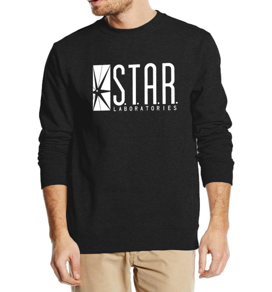 cool sweatshirts superman series men sweatshirt star s.t.a.r.labs autumn winter 2016 new  fashion hoodies cool streetwear ZIVLNZK