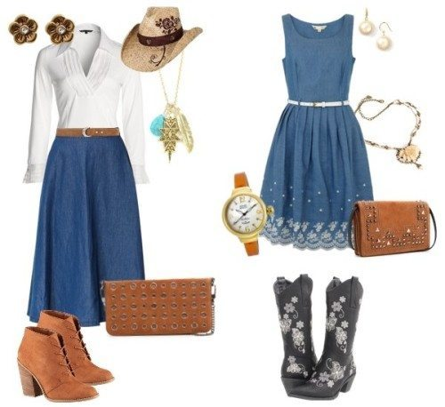 cowgirl outfit western-themed-wedding-guest-outfit-ideas DPHJIVE