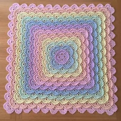 crochet baby blanket patterns shell stitch baby blanket - free pattern ~ yarn crochet for table UEESLFR