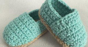 crochet baby booties crochet baby espadrilles // crochet baby shoes // crochet baby MJBQTOW