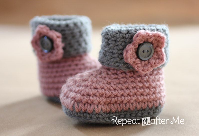 crochet baby booties cuffed crochet booties ZZORNZC