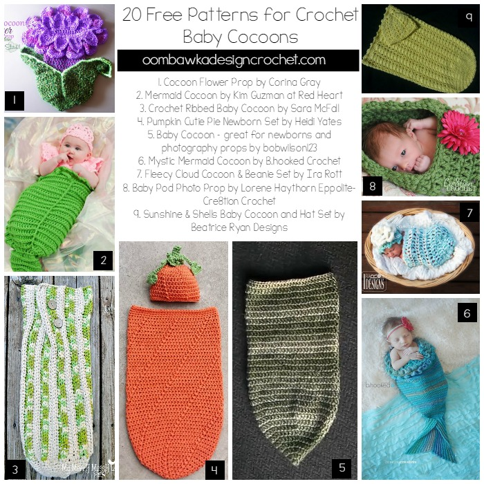 crochet baby cocoon 20 free patterns for crochet baby cocoons @oombawkadesign LABGYJP