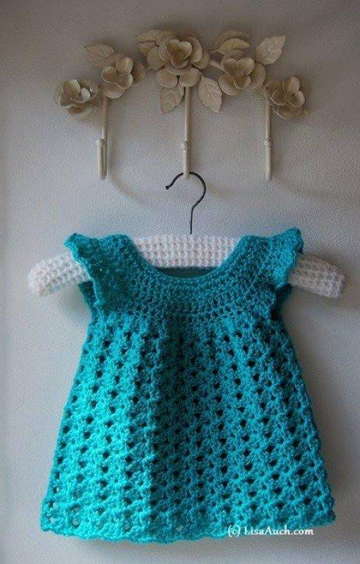 crochet baby dress pattern beautiful easy crocheted baby dress WFNHNXT