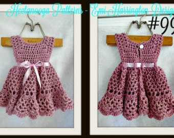 crochet baby dress pattern, crochet baby clothes, crochet pattern baby, crochet  dress pattern WLUFOWB