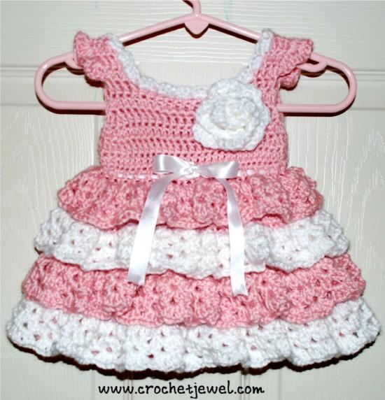 crochet baby dress pattern view in gallery baby-dress-free-crochet-pattern-550x572 FHRUMMG