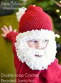 crochet baby hats crochet santa beard hat pattern UBWXPJI