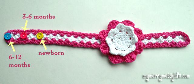 crochet baby headbands crochet seed stitch baby girl headband - sizing EVQWWUU