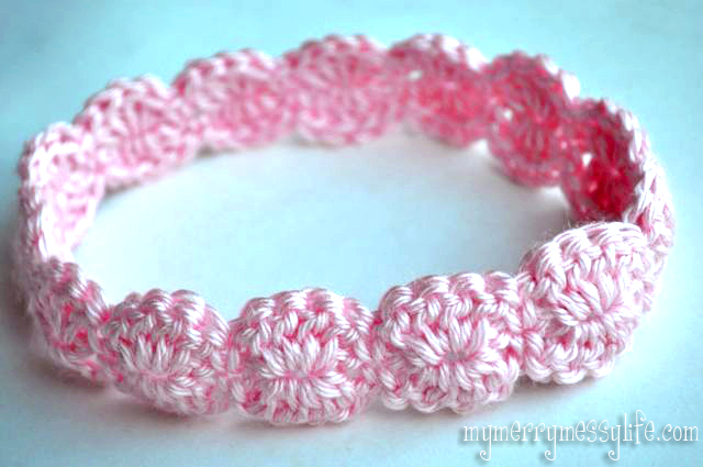 crochet baby headbands photo tutorial for the crochet shell headband - free pattern! WDBWQXX