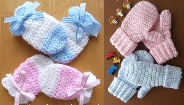 crochet baby mittens wonderful diy crochet kids mitten with free pattern XMLWFKU