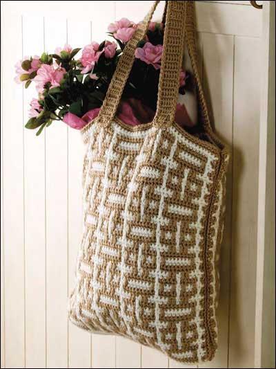 crochet bag pattern mosaic crochet tote pattern AKLFBOK
