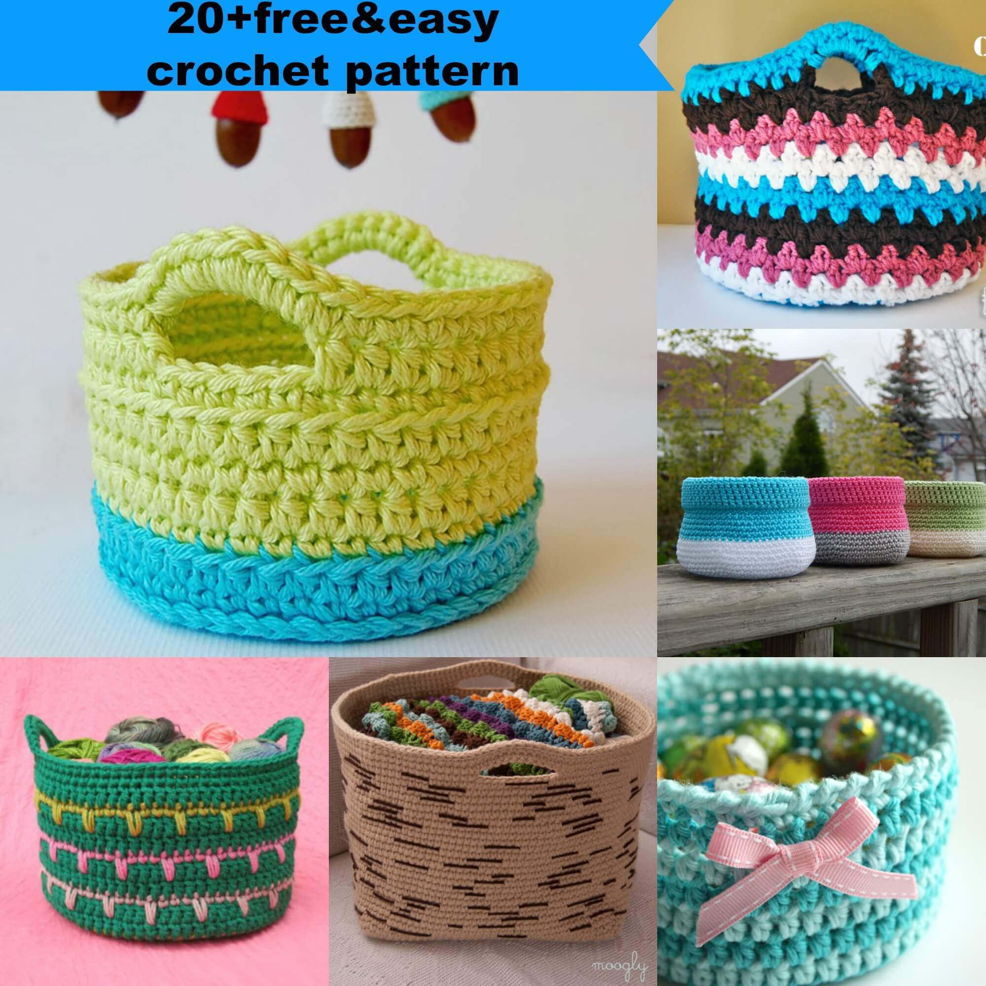 crochet basket pattern 23 free u0026easy crochet baskets patterns SAOIDBD