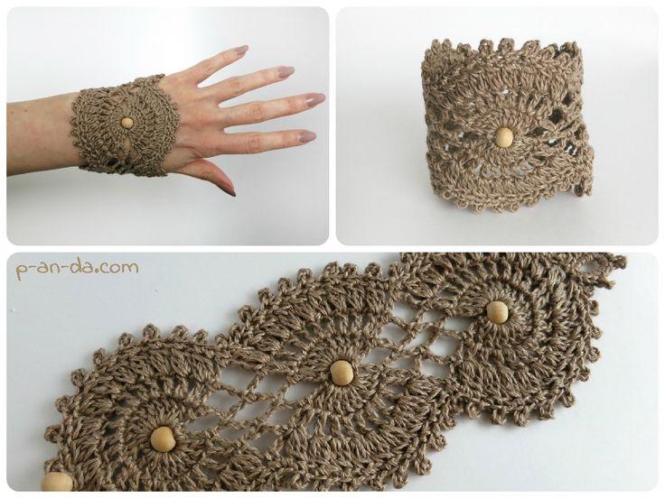 crochet bracelet pattern crochet bracelet pdf pattern браслет бохоstyle ажурный (мастер-класс в  формате pdf) YNXTOHJ