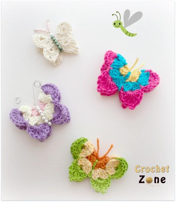 crochet butterfly pattern butterfly crochet pattern by crochet LEQRUFC
