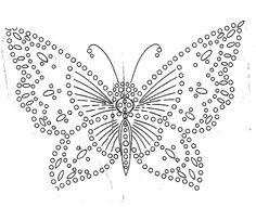 crochet butterfly pattern crochet butterfly chart PBCSQYO