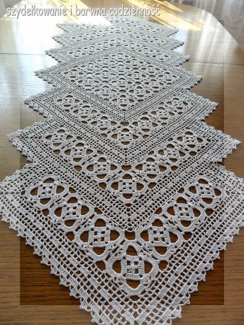 crochet doilies filet crochet runner- pic for inspiration. LHKBULG