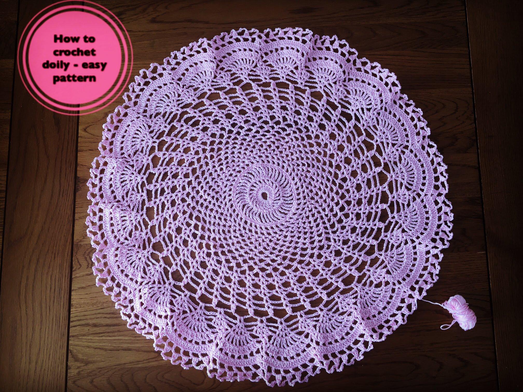 crochet doilies how to crochet doily - easy pattern - youtube THVATZL