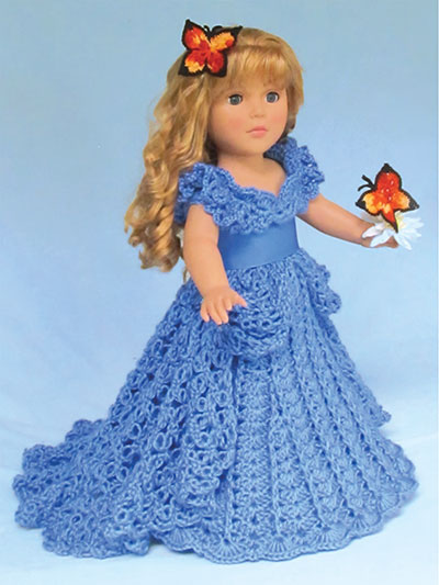 crochet doll clothes a cinderella dream crochet pattern WXPWETR