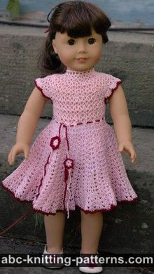 crochet doll clothes american girl doll apple blossom dress RSPWNVL