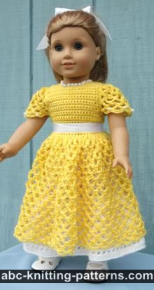crochet doll clothes american girl doll princess dress IWNAPPH