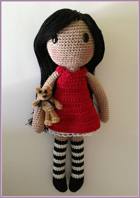crochet doll patterns ravelry: gorjuss amigurumi free pattern by ana artedetei. SUZJSPO