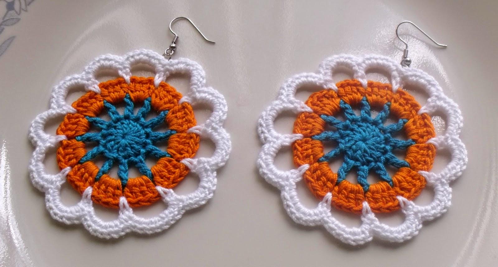 crochet earrings crochet flower earrings VQUKWUL