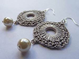crochet earrings silk crochet circulare washer earrings :: free crochet thread earrings  roundup on moogly PCHZOEA