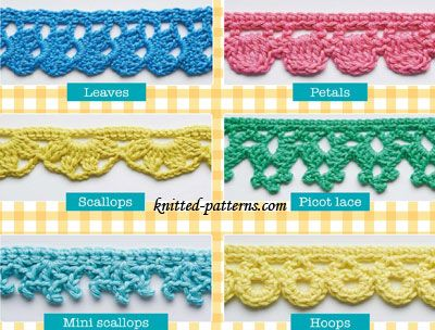 crochet edging crochet edgings and trims free patterns | knitted-patterns.com GIJFELI