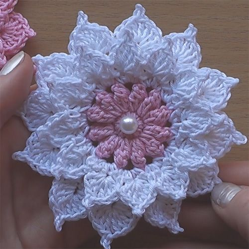 crochet flower pattern crochet flower - very easy tutorial (crochet for children) CLCVQKB