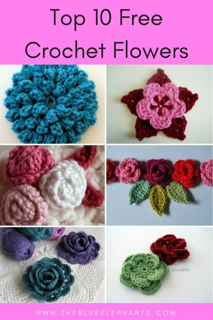 crochet flowers pattern flowers to crochet and knit ZLSIQKM