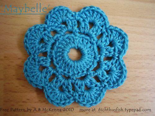 crochet flowers pattern free pattern crochet flower OZZPSJY