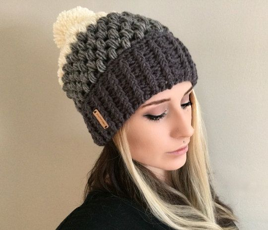 crochet hat patterns crochet pattern fitted puff stitch beanie pdf file | charlie u0026 luna co, crochet FATGETO