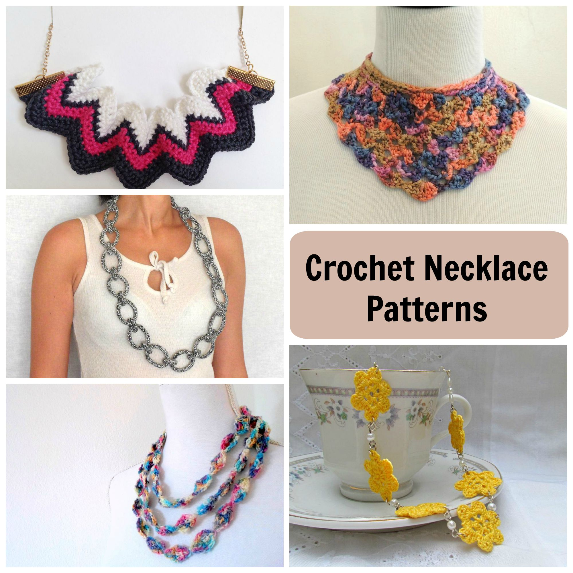 crochet jewelry patterns ... crochet necklace patterns MYGFVKE