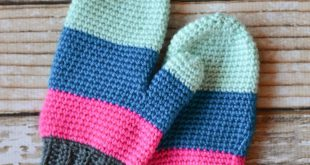 crochet mittens crochet color block mittens KVPQQFD