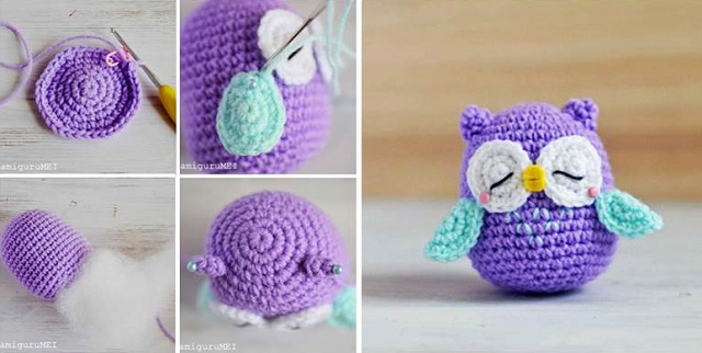 crochet owl pattern diy crocheted owls free patterns3 PEURMLB