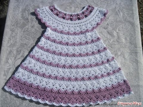 How to create a crochet baby dress? - fashionarrow.com