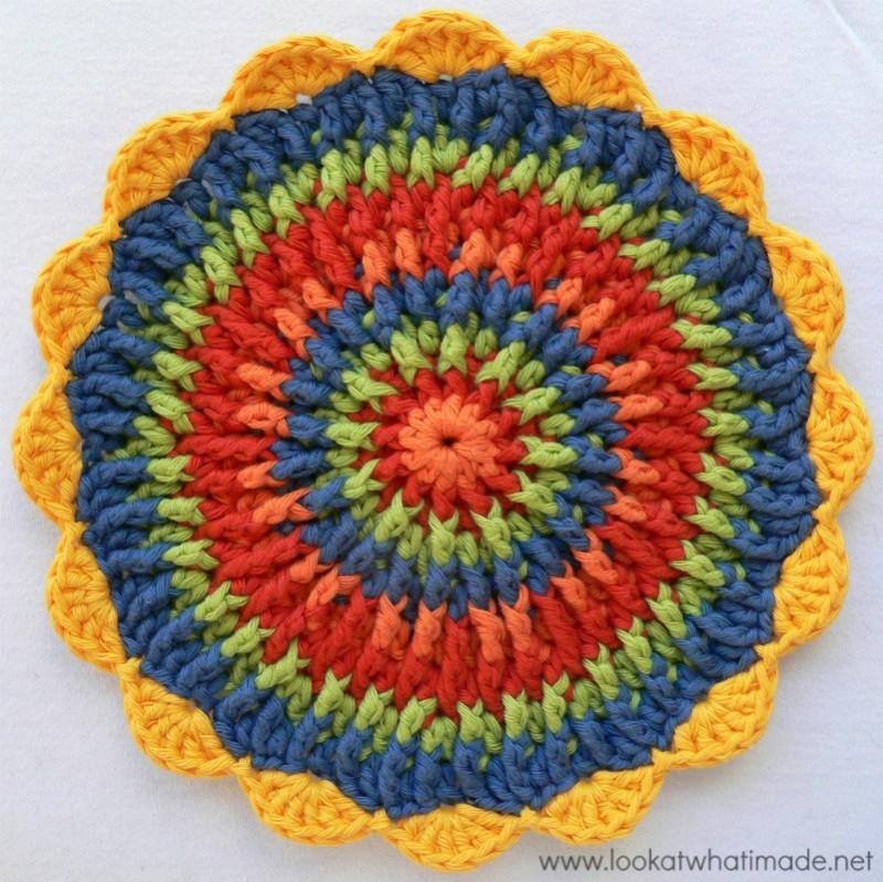 crochet potholders round crochet potholder trivet mandala HEWNNCJ
