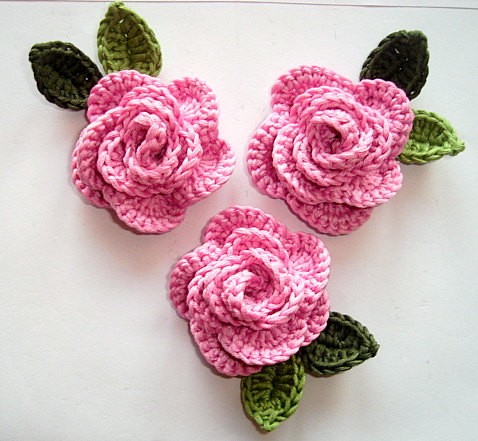 crochet rose crocheted roses OCBZLCD