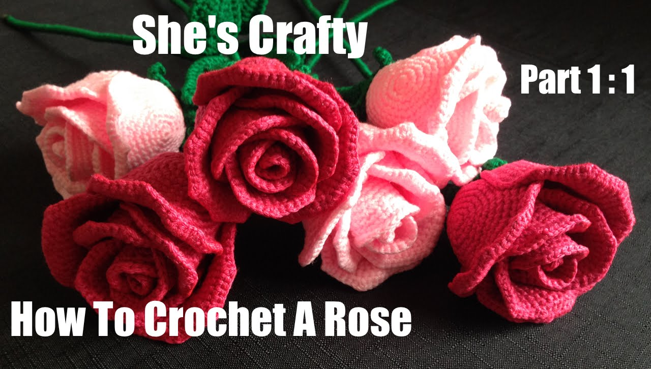 crochet rose how to crochet a rose: easy crochet lessons to crochet flowers part 1:1 - CBDNTDS