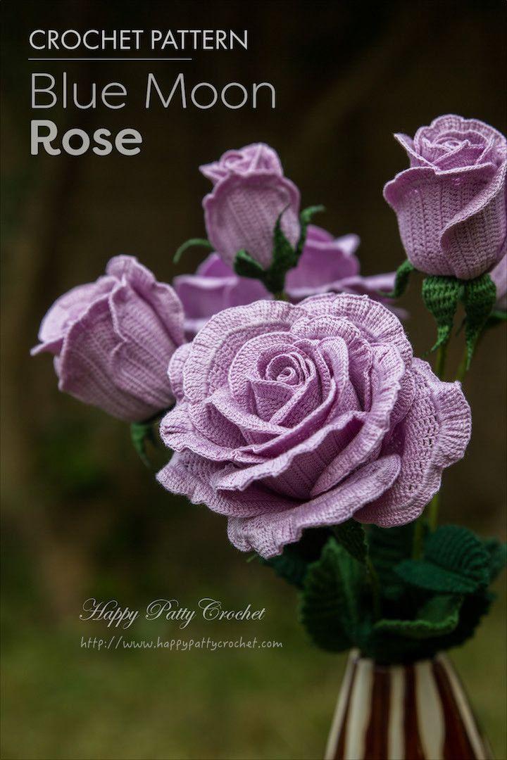 crochet rose pattern 25+ best crochet roses ideas on pinterest | easy crochet flower, crocheted  flowers and CIMFCLB