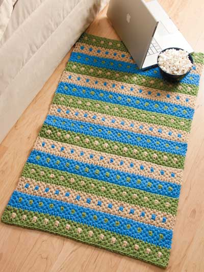 crochet rug patterns dotted stripes rug NVWNHKM