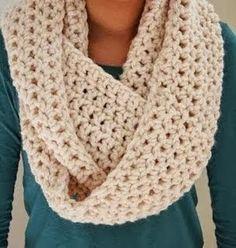 crochet scarf cozy infinity scarf REDSGFC
